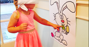"Printable Easter Game ""Pin The Tail On The Bunny"""