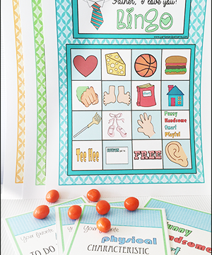 "Printable Bingo Game ""Dad I Love You"""