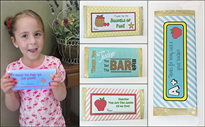 """Printable Candy Bar Wrappers """"Teacher's Pet"""""""