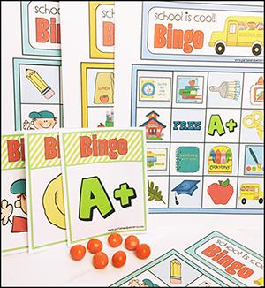 """""""School is Cool"""" Bingo Game"""