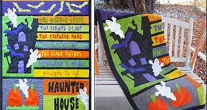 "Halloween Quilt Pattern ""Haunted House"""