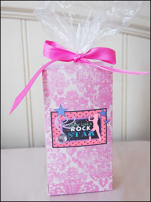 Homemade Party Favors Goo Bags Rock Star