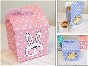 "Easter Ideas ""Bunny and Chick"" Candy Boxes"