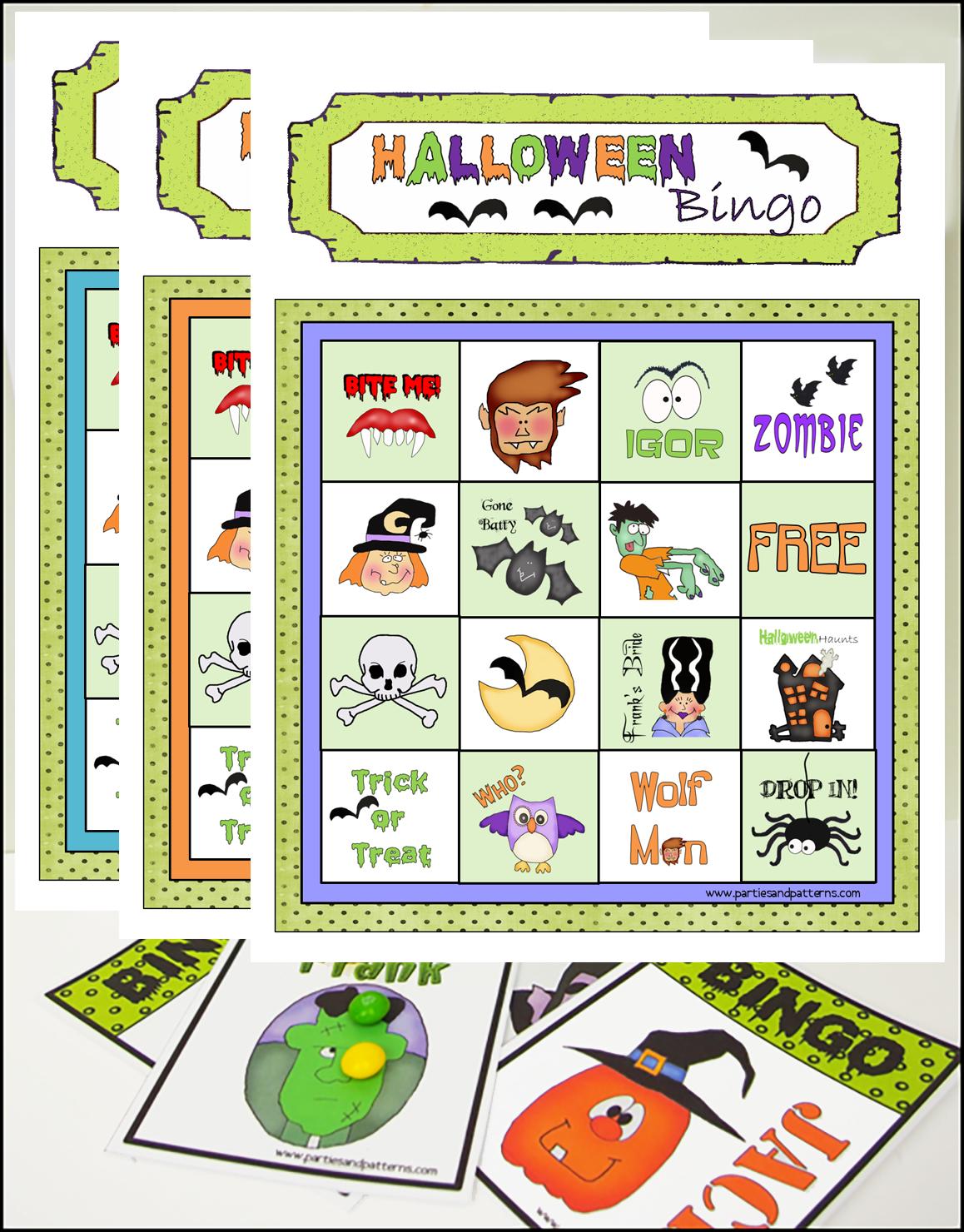 printable bingo games halloween