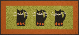 "Table Runner Patterns ""Scare-D-Cat"""