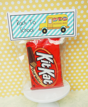 """Printable Party Favor  Label """"Back to School"""""""
