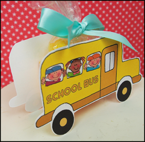 """Printable Candy Boxes """"School Bus"""""""