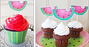 Watermelon Cupcake Liners