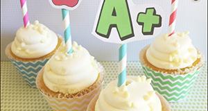 School Cupcake Liners