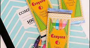 Printable Crayon Candy Bar Wrapper
