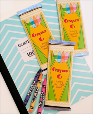 """Back To School """"Crayon Candy Bar Wrapper"""""""