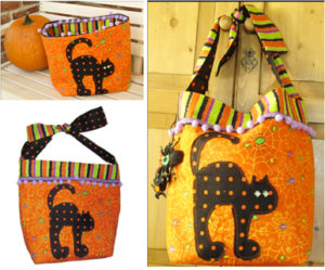 "Trick or Treat Bag Pattern ""Scare-d-Cat"""