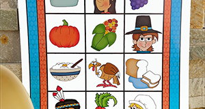 "Printable Thanksgiving Game ""Gobble, Gobble"""