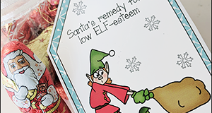 "Printable Christmas Gift Tag ""Santa's Remedy For Low Elf-Esteem"""
