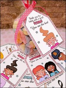 printable gift tags, printable tags, downloadable thank you tags, printable thank you tags