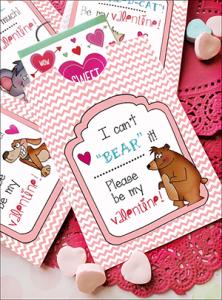 printable Valentines, printable Valentine party favors, printable Valentine candy envelopes