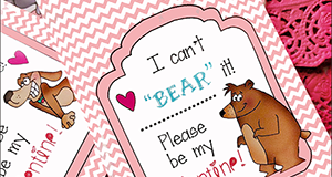 "Printable Valentine Candy Envelopes ""Animal Valentines"""
