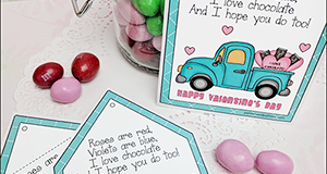 "Printable Valentine Tag ""Roses Are Red"""