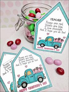 printable gift tags, printable Valentine tags, teacher appreciation tags, Valentine tags