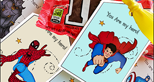 "Printable Gift Tags ""You Are My Hero"""