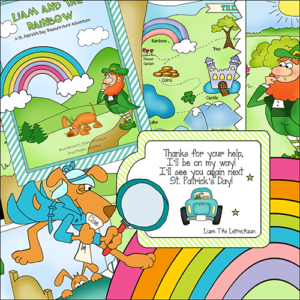 "Downloadable Treasure Hunt ""Liam And The Rainbow"""