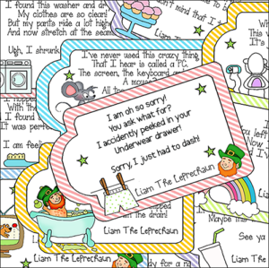 "Downloadable Treasure Hunt ""Notes From Liam The Leprechaun"""