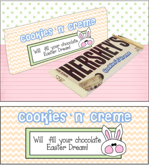 Candy Bar Sayings Easter Cookies n' Creme