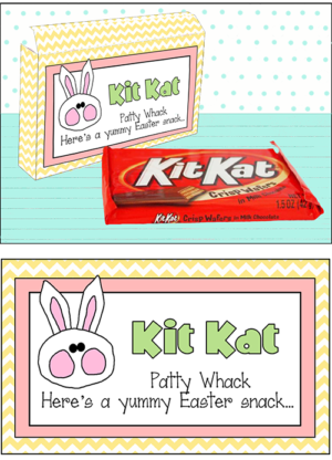 "Candy Bar Sayings Easter ""Kit Kat"""
