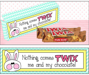 "Candy Bar Saying Easter ""Twix"""