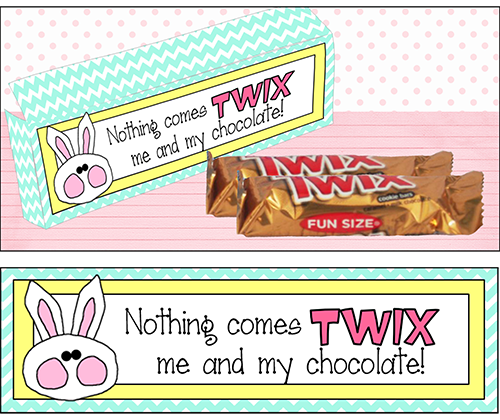 Easter Candy Sayings Twix Are Perfect To Put In Everyones Easter