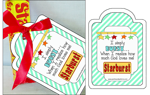 """Missionary Candy Sayings """"Star Bursts"""""""