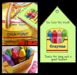 "Teacher Appreciation Idea ""Crayon Box"""