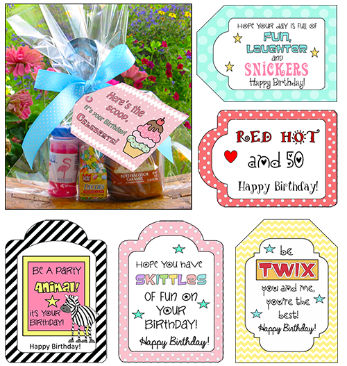 Birthday Candy Saying Tags Are Perfect For Birthdays