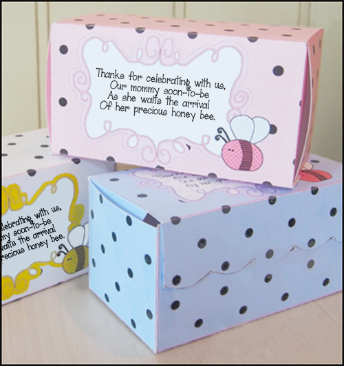 Diy Baby Shower Ideas Candy Boxes Bumblebee