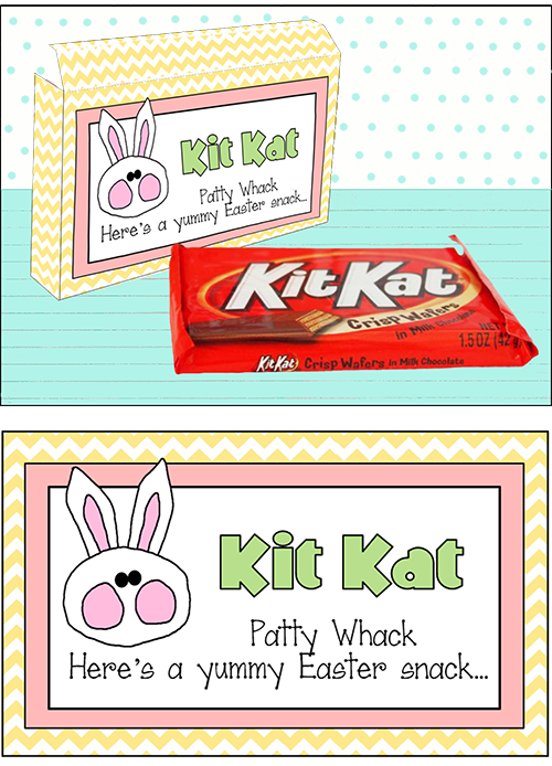 Easter Candy Sayings Kit-Kat are perfect for Easter baskets.