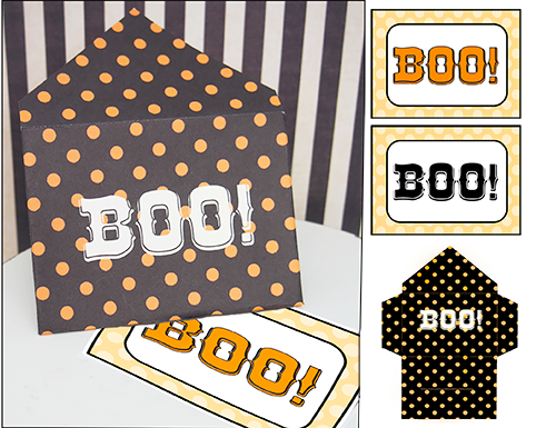 photo about Printable Minis referred to as Halloween Printable Mini Present-Playing cards \
