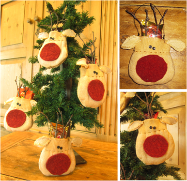 Party Favors Reindeer Ornament Homemade Christmas Gifts