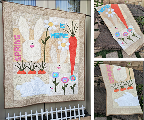Easter Quilt Pattern Bunnies And Carrots Parties And Patterns