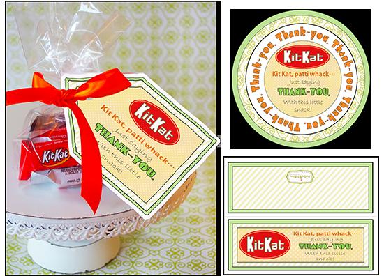 candy sayings printable thank you gift tag kit kat