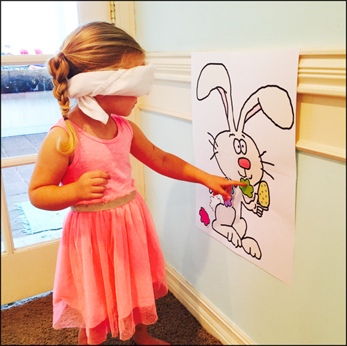 photo relating to Pin the Tail on the Bunny Printable called Pin-The-Tail-Upon-The-Bunny Easter Video game